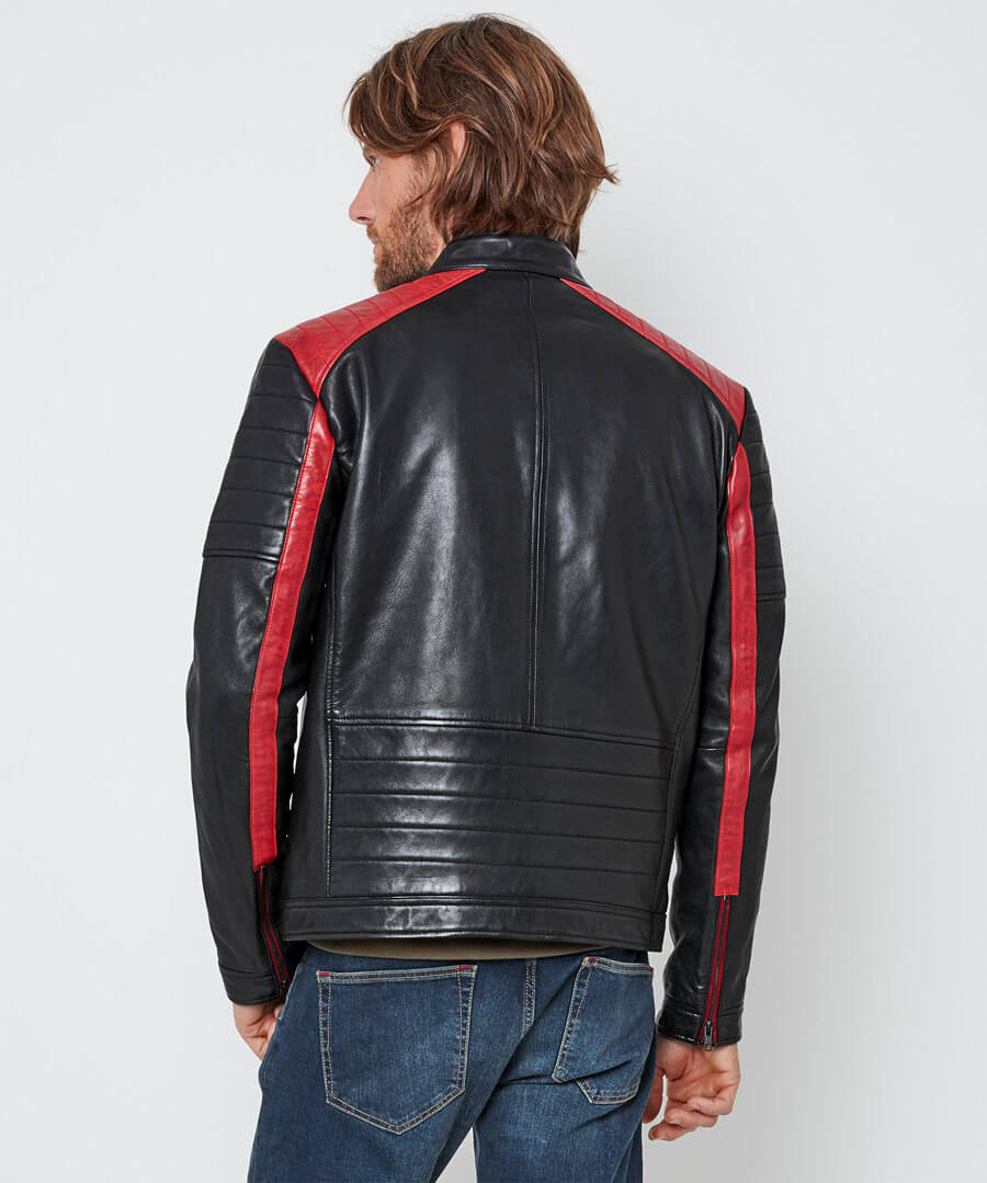 Hit The Road Leather Jacket Model Back