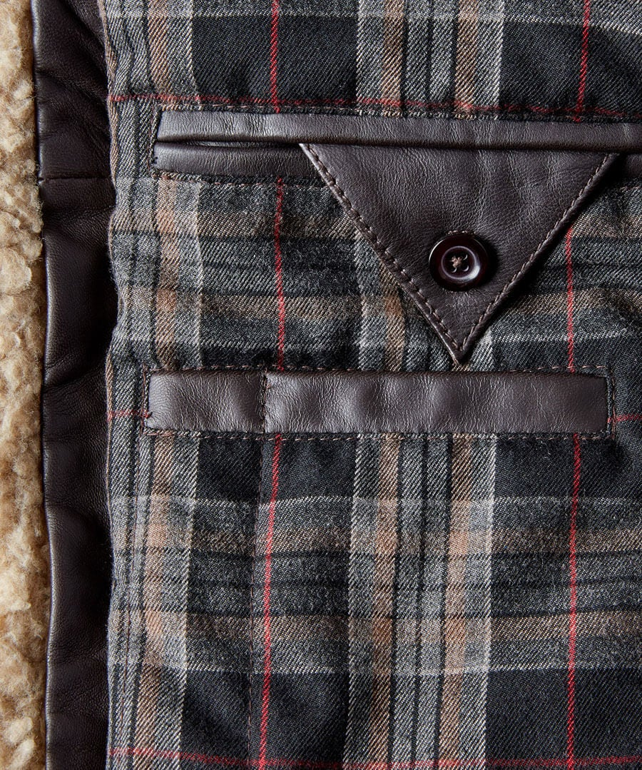 Double Up Leather Jacket Back
