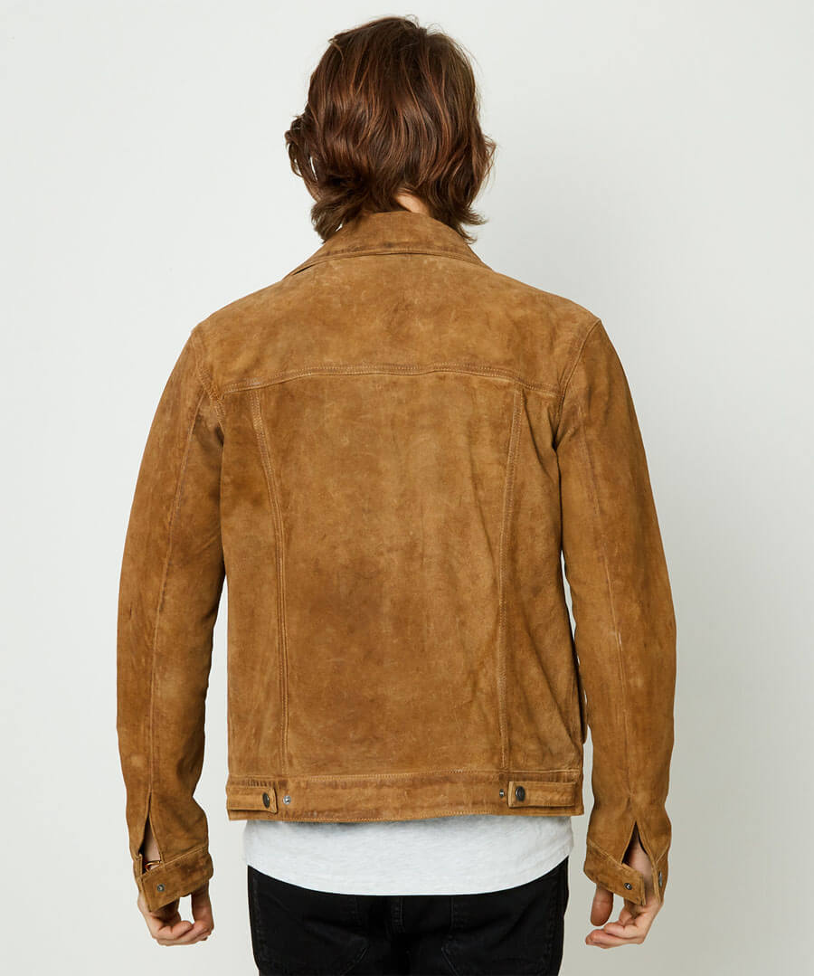 Good Times Suede Jacket Model Back