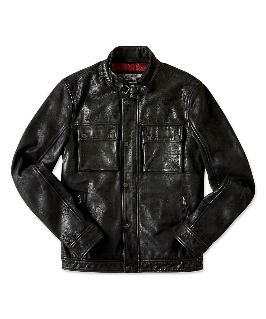 Life Is For Living Leather Jacket Back