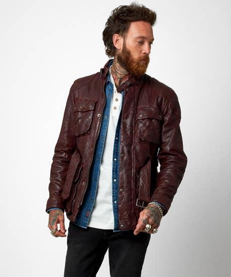Perfect Pocket Leather Coat