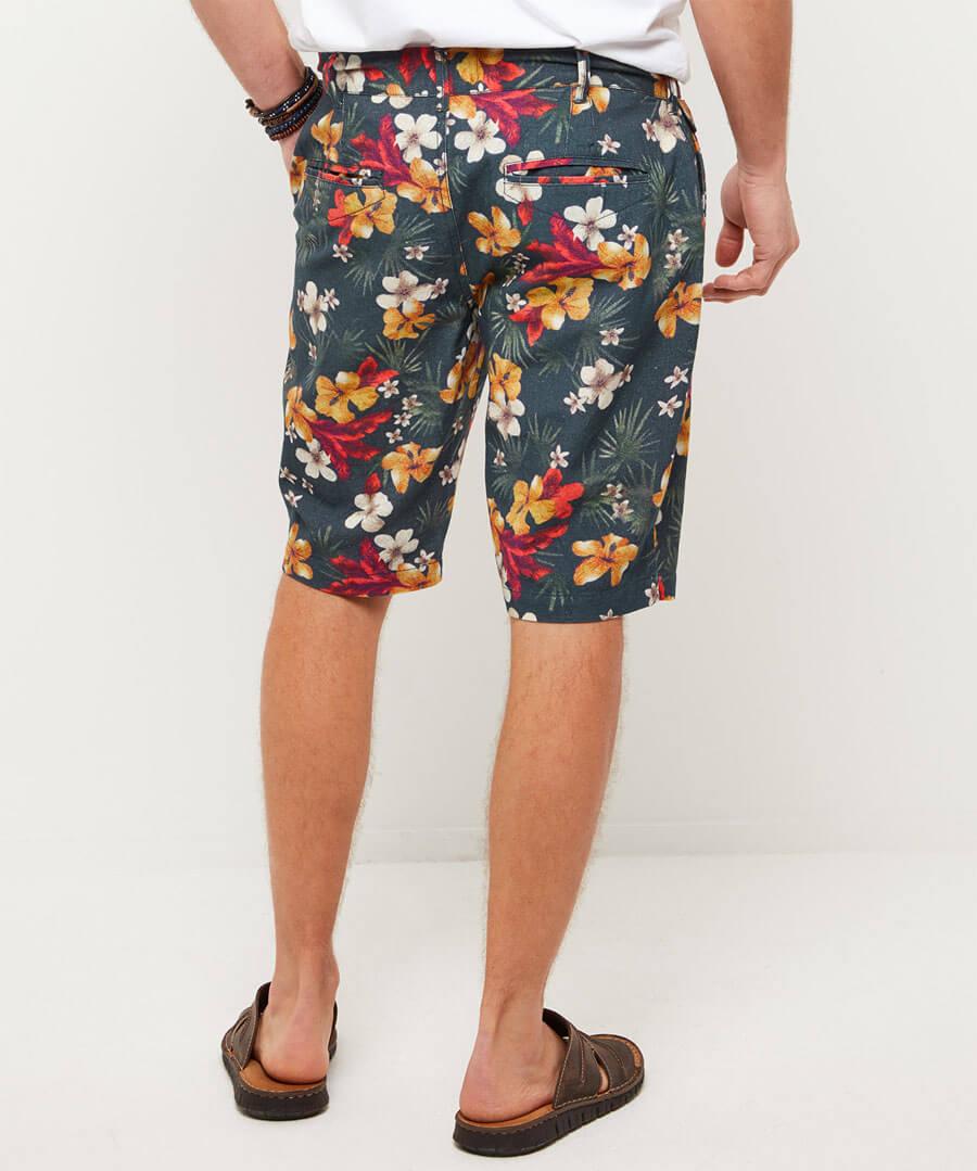 Funky Floral Shorts Model Back