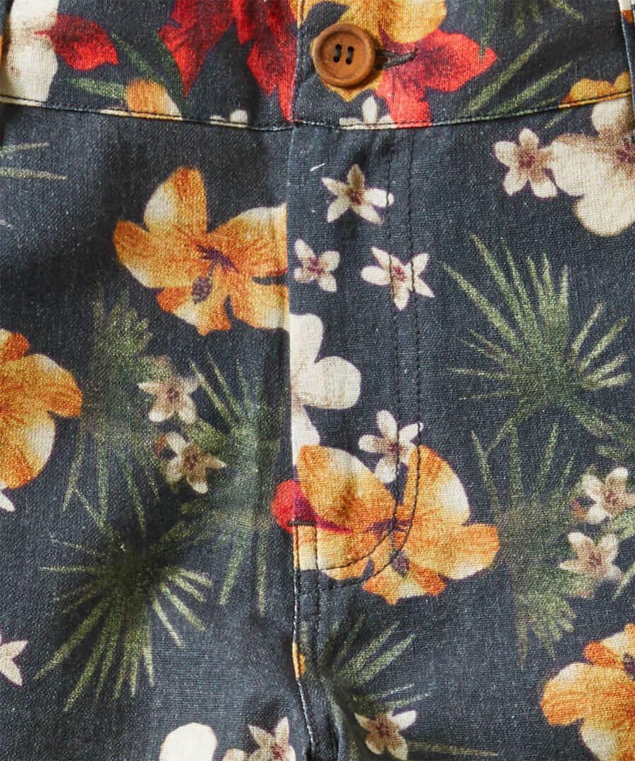 Funky Floral Shorts Back
