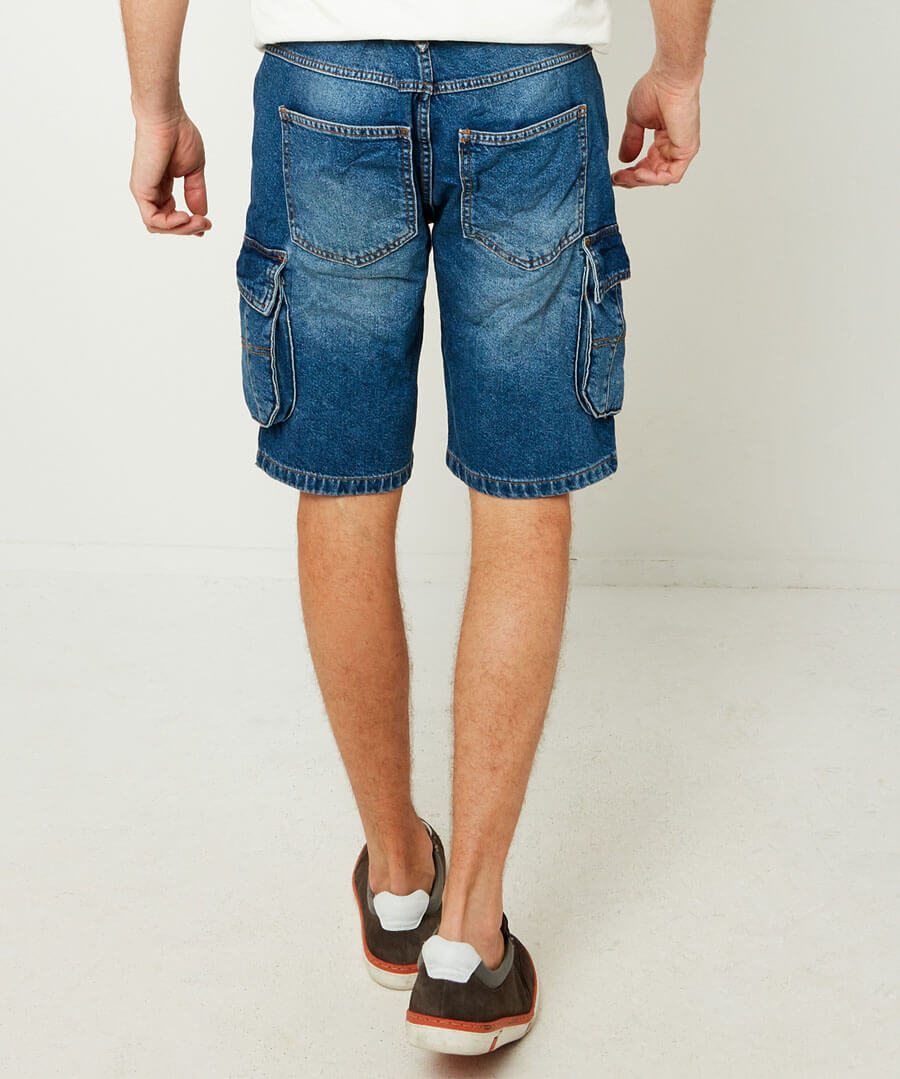 Everyday Cargo Shorts Model Back