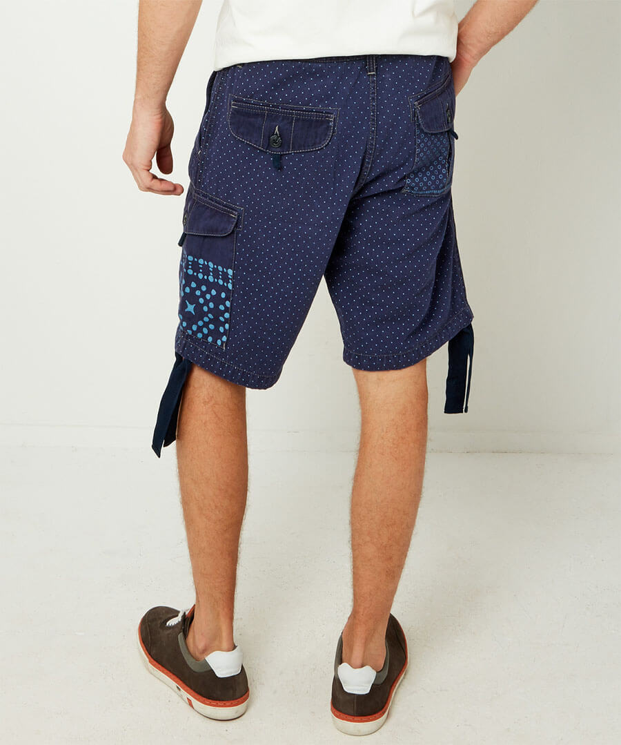 In The Mix Cargo Shorts Model Back