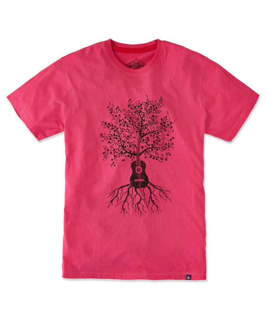 Music Grows Tee Model Front