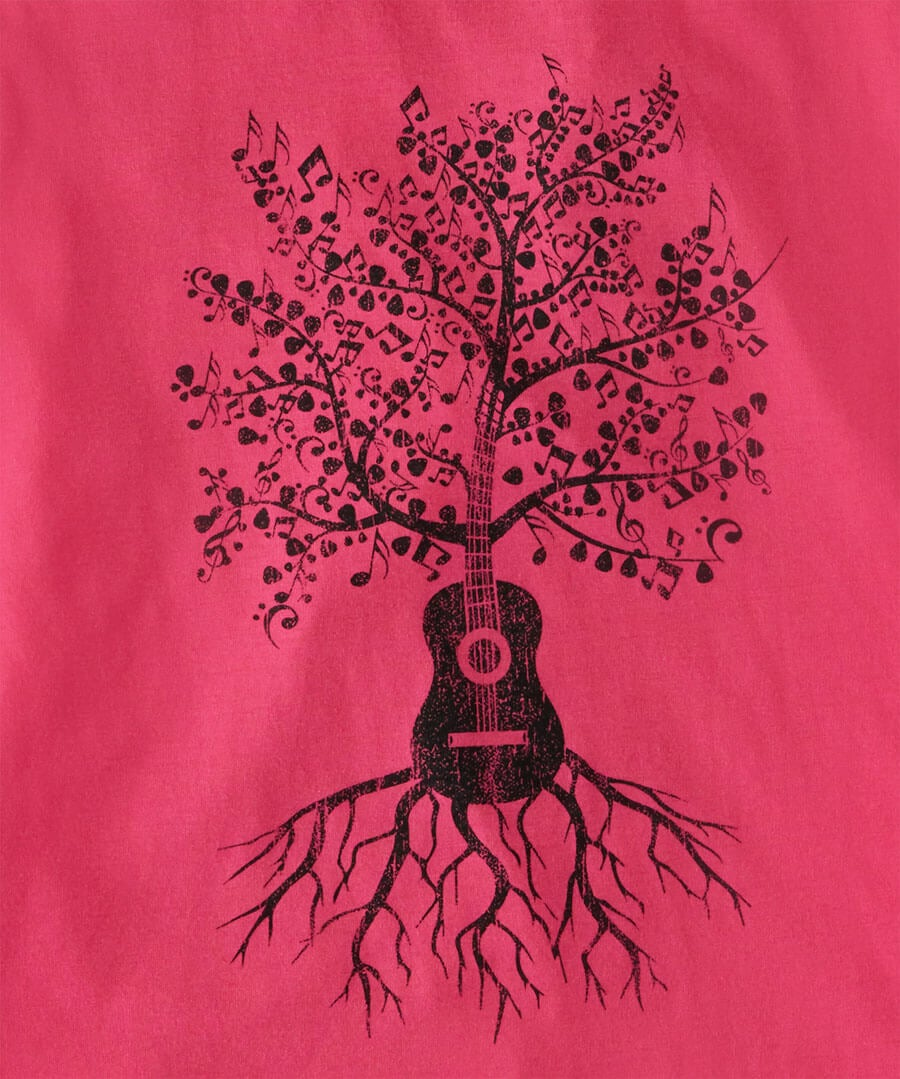 Music Grows Tee Back