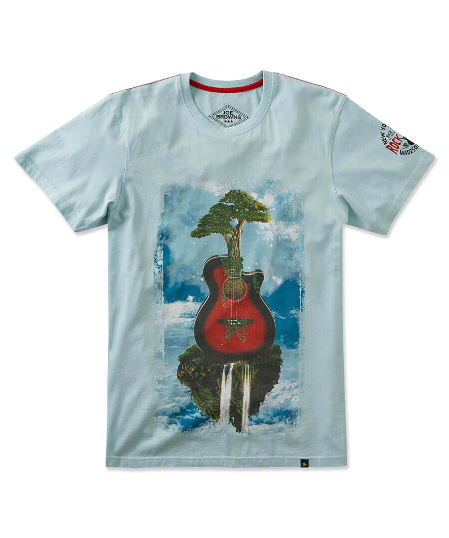Scenic Guitar T-Shirt Model Front