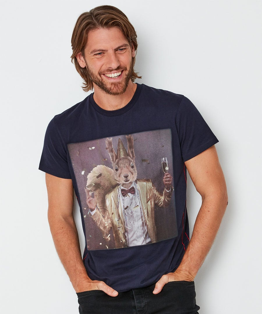 Party Squirrel T-Shirt Model Front