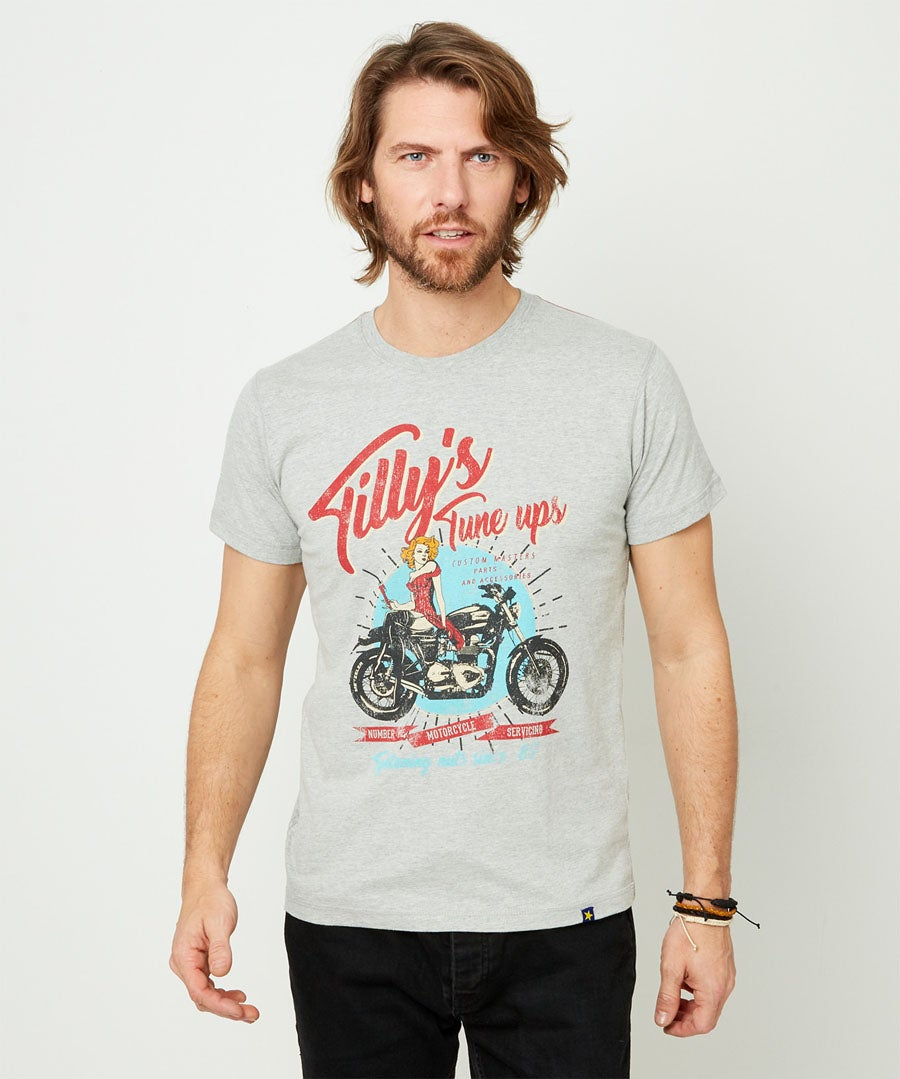 Tillys Tune Up Tee Model Front