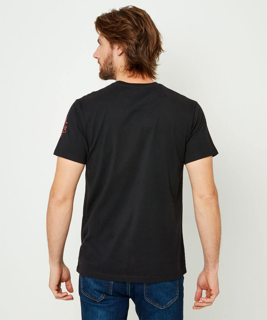 Abstract Guitar Tee Model Back