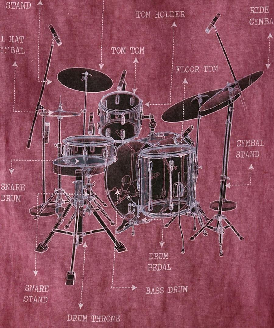 Drum Description Tee Back