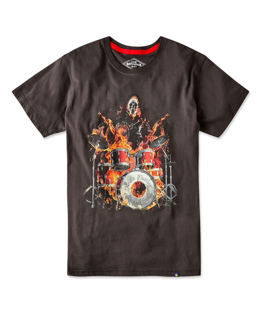 Drums On Fire Tee