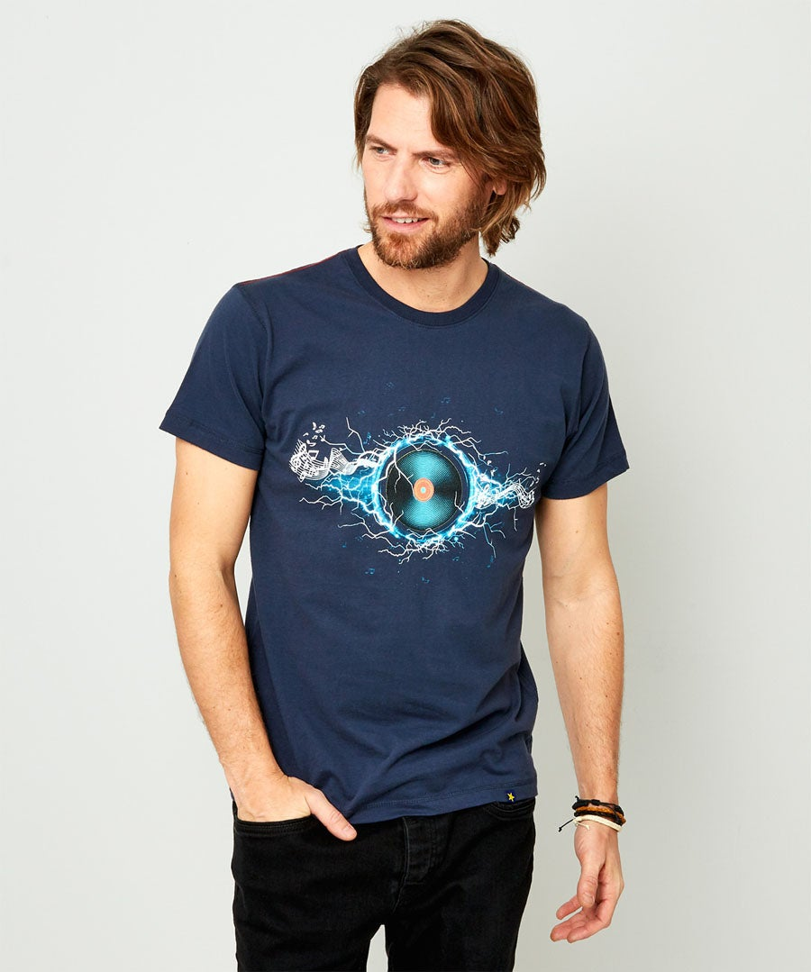 Electric Vibes Tee Model Front