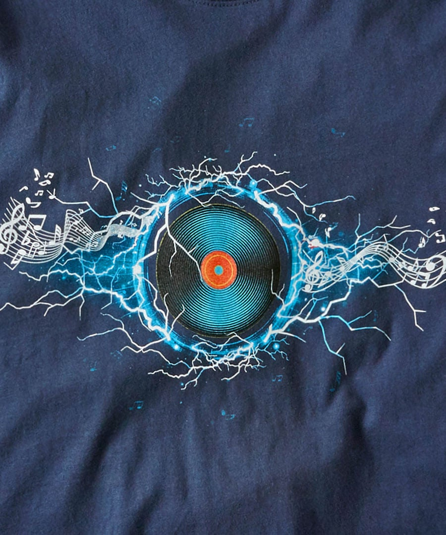 Electric Vibes Tee Back