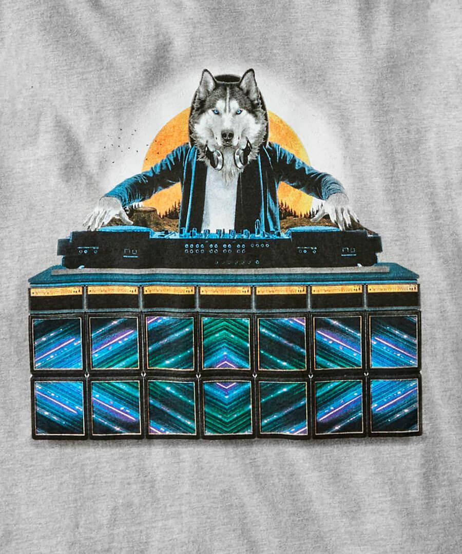 DJ Wolf Tee Back