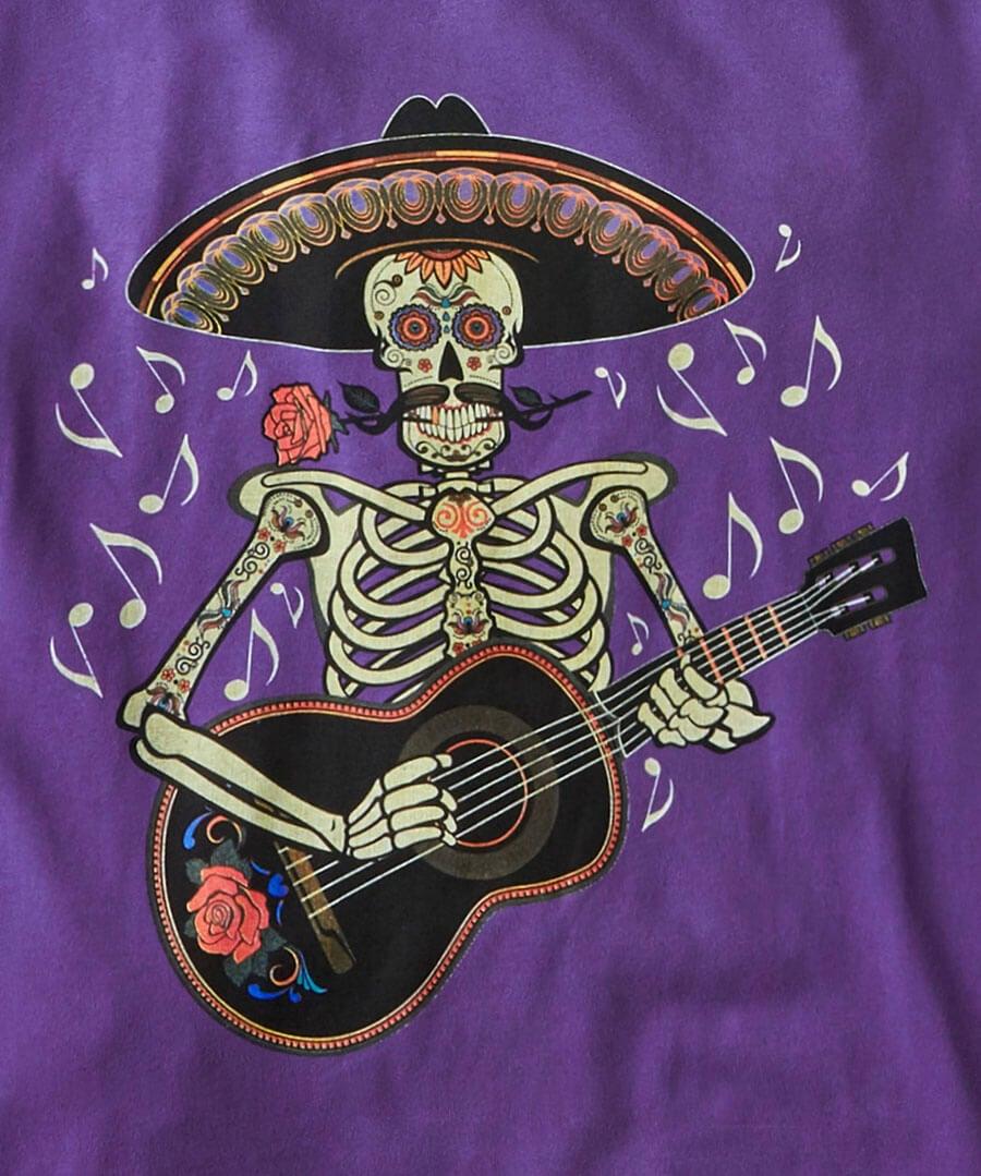 Salsa Guitar Tee Back