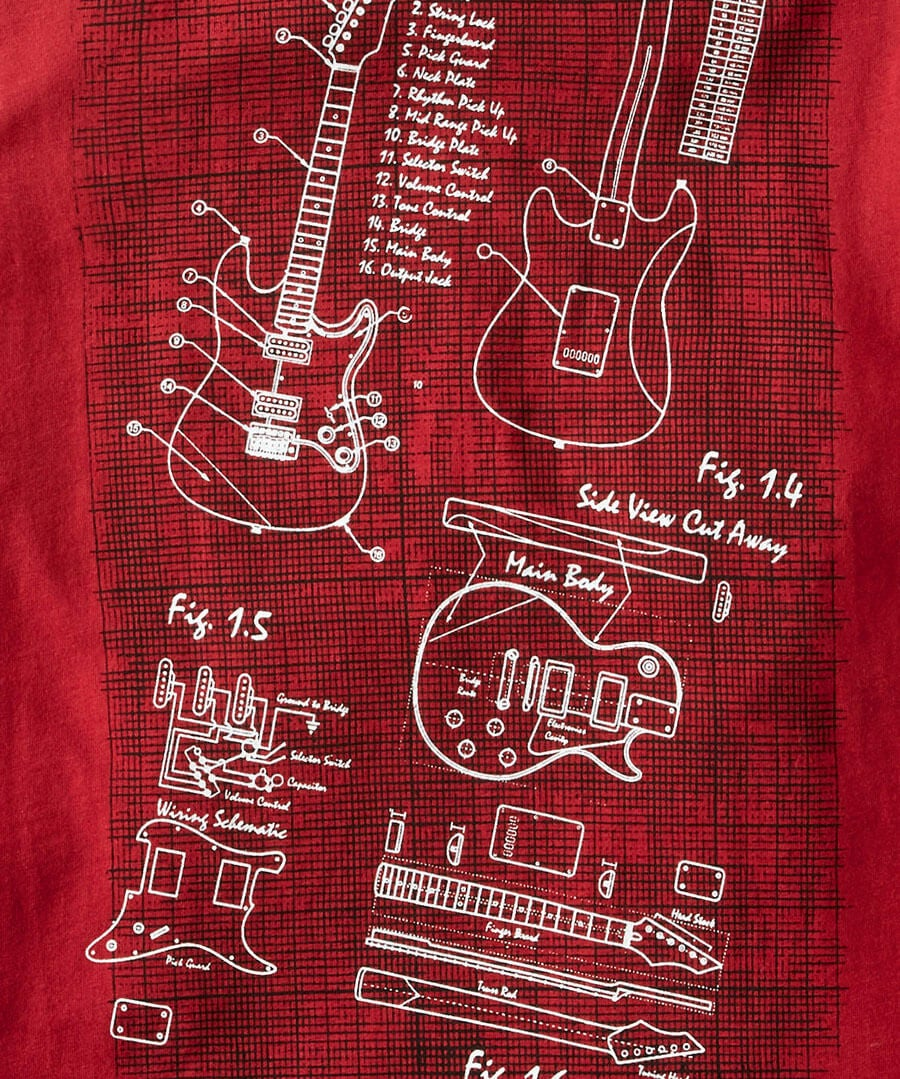 Guitar Design Tee Back
