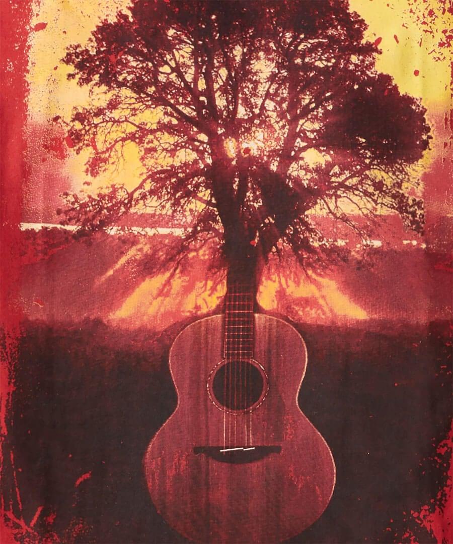 Sunset Guitar Tee Back