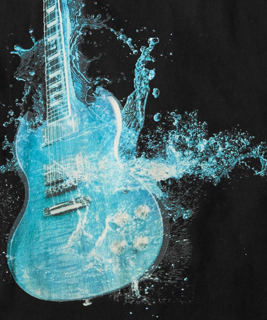 Explosive Guitar Tee Back