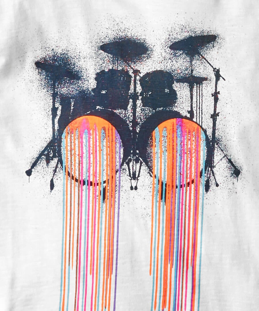 Hot Drums Tee Back