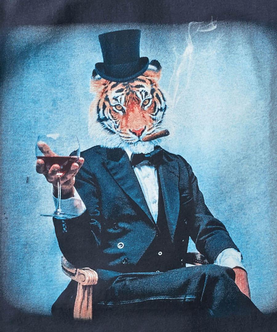 Dapper Tiger Tee Back
