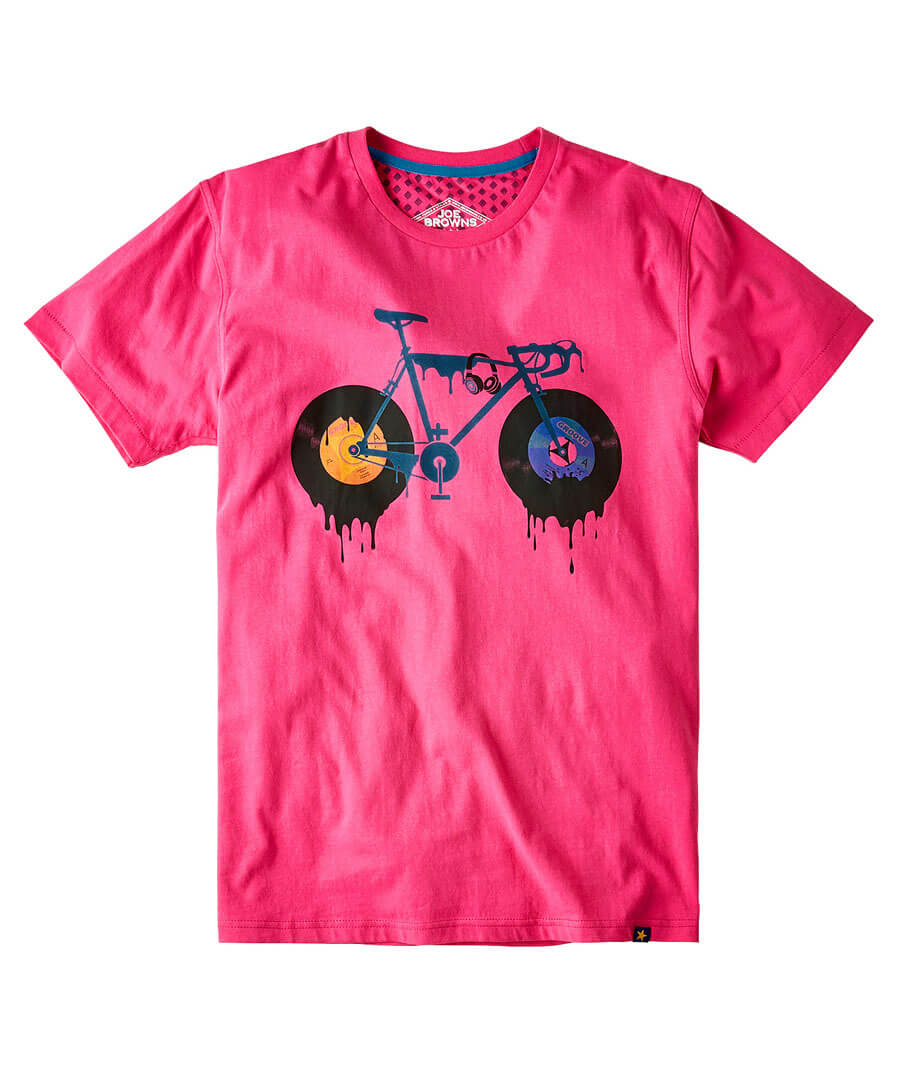 Dripping Bike Tee Model Front