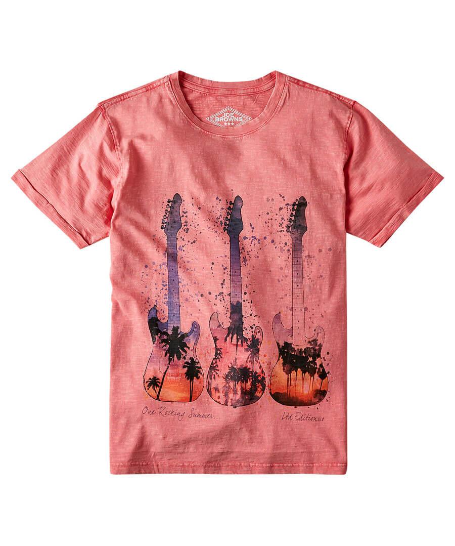Sunshine Guitar Tee Model Front