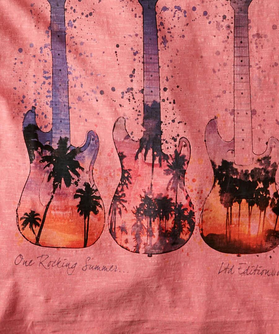 Sunshine Guitar Tee Back
