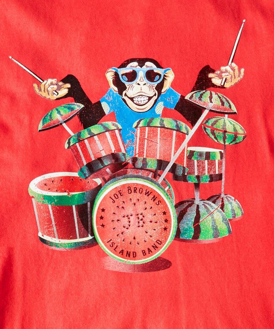 Island Drums Tee Back