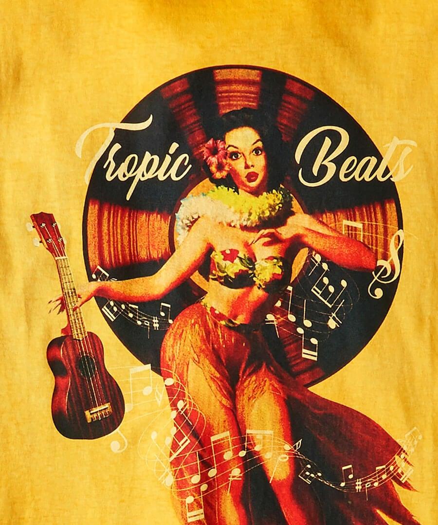 Tropic Beats Tee Back