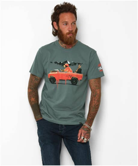 Bear In A Jeep Tee