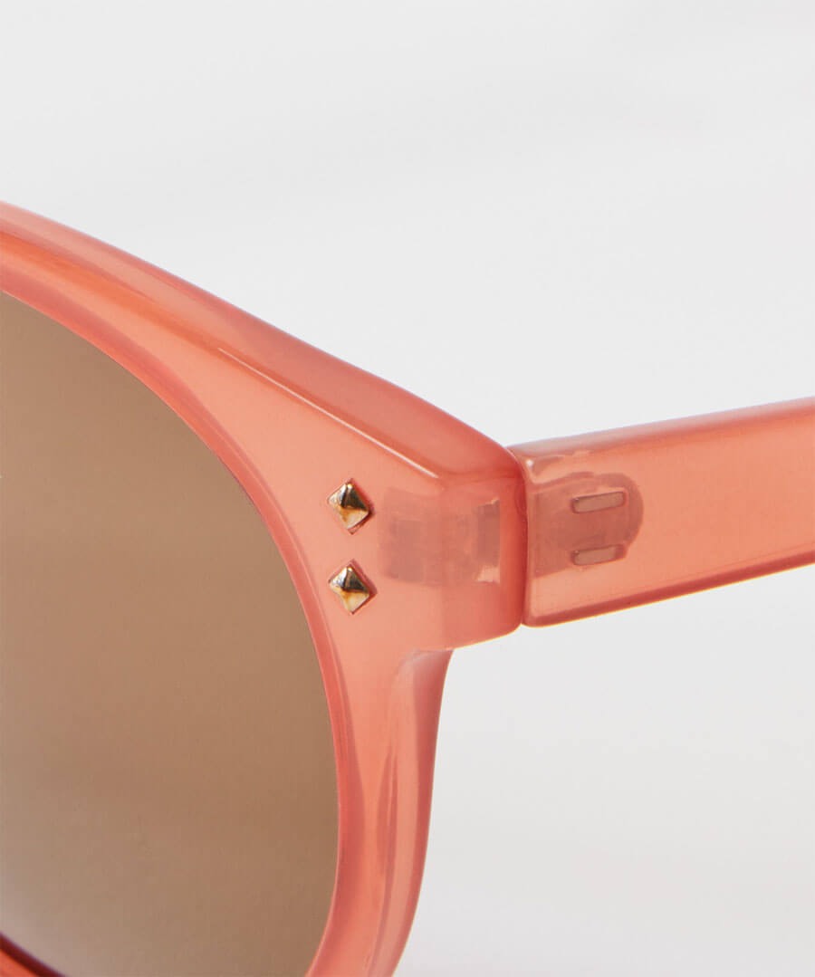 Milky Pink Sunglasses Back