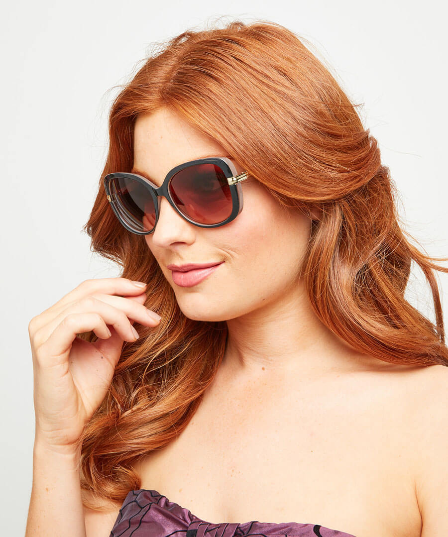 Milky Brown Glam Sunglasses