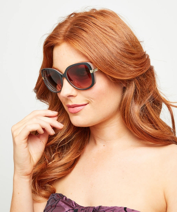 Milky Brown Glam Sunglasses