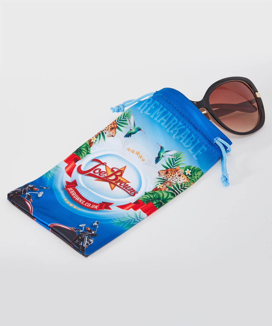 Milky Brown Glam Sunglasses Model Back
