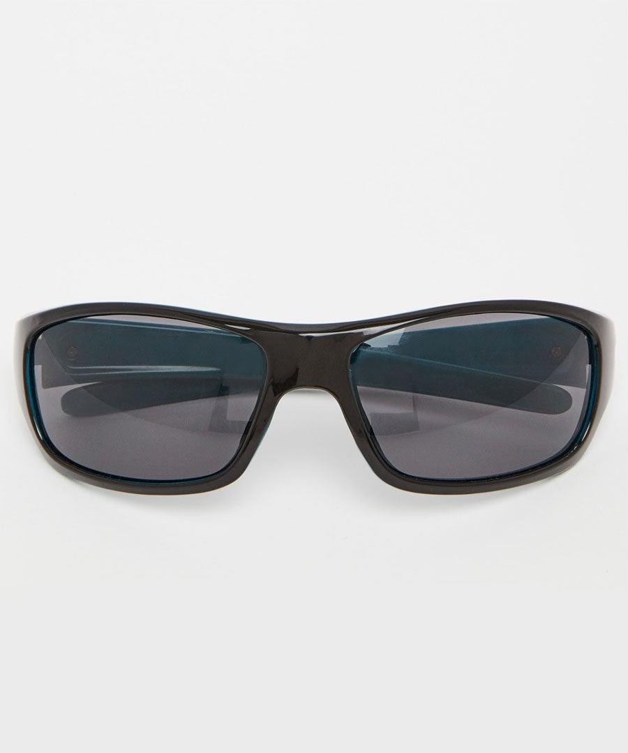 Wrap Two Colour Sunglasses Model Front