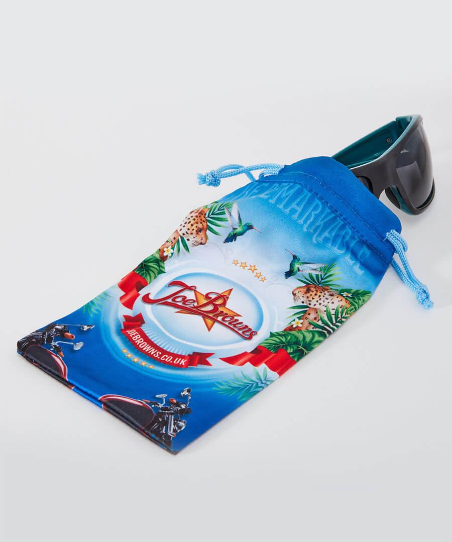 Wrap Two Colour Sunglasses Model Back