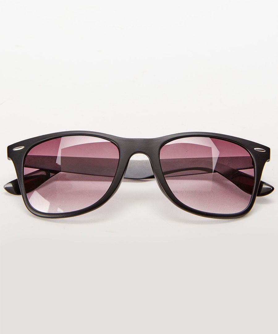 Stainless Steel Temple Sunglasses Model Front