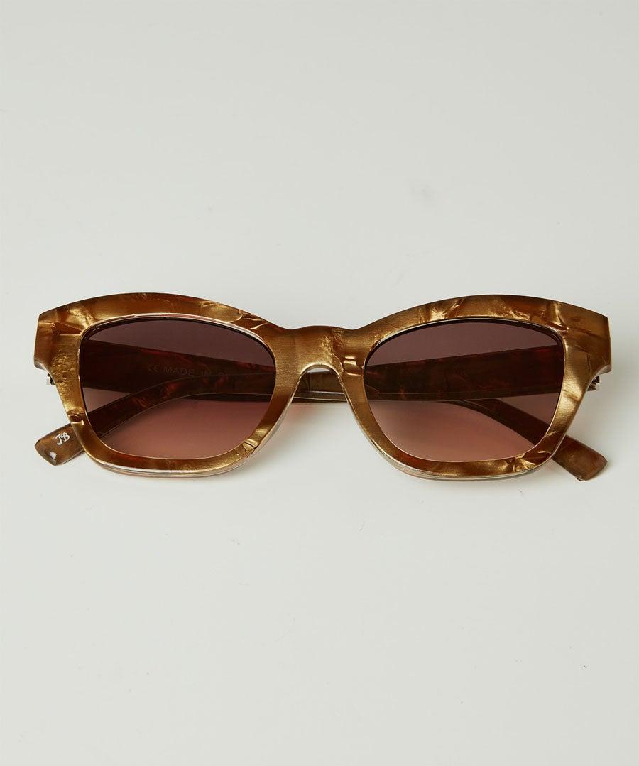 Shell Effect Retro Sunglasses Model Front