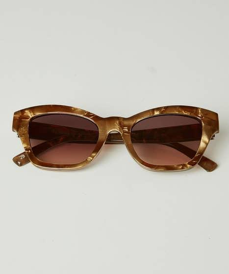 Shell Effect Retro Sunglasses