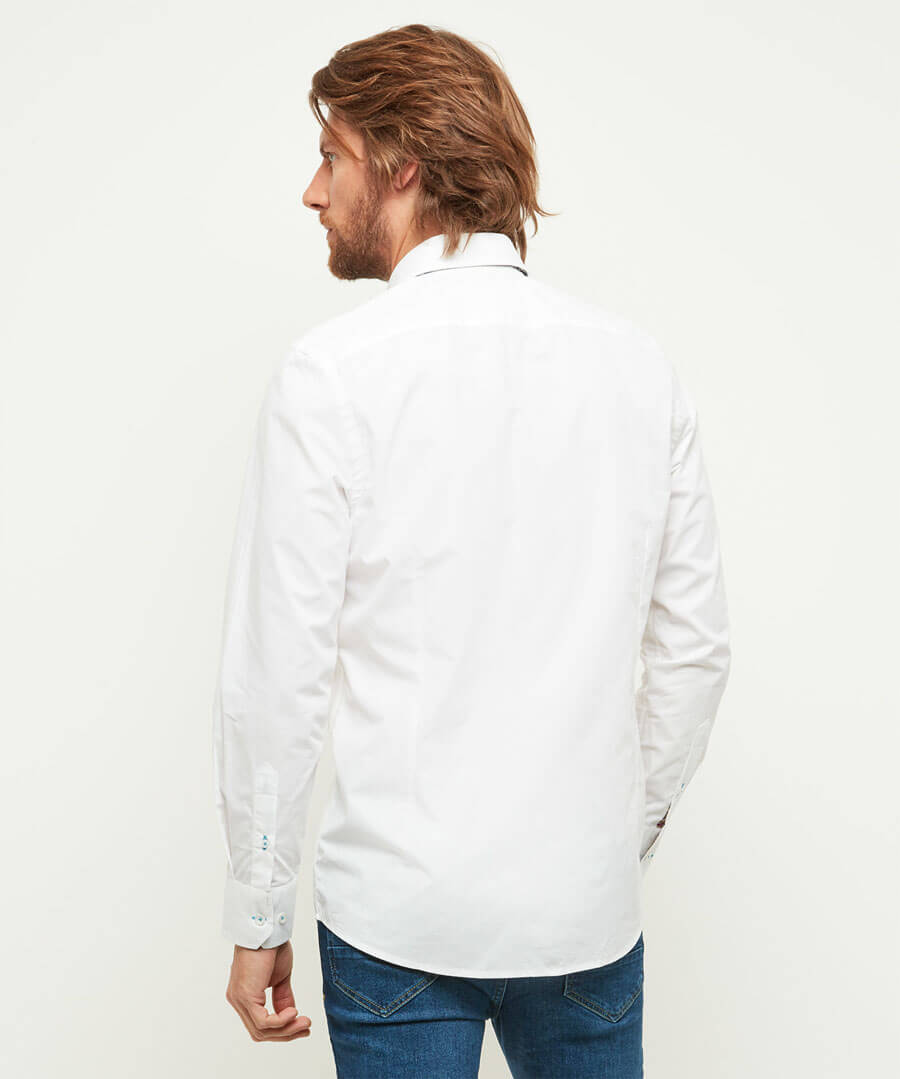 Suitably Tailored Fit Shirt Model Back