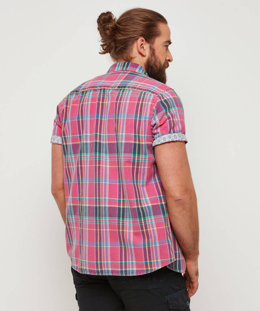 Summer Days Check Shirt Model Back