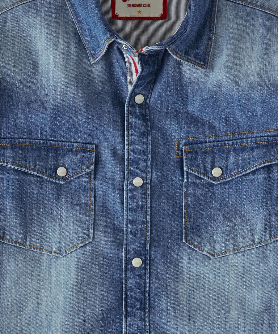 Distinctive Denim Shirt Back