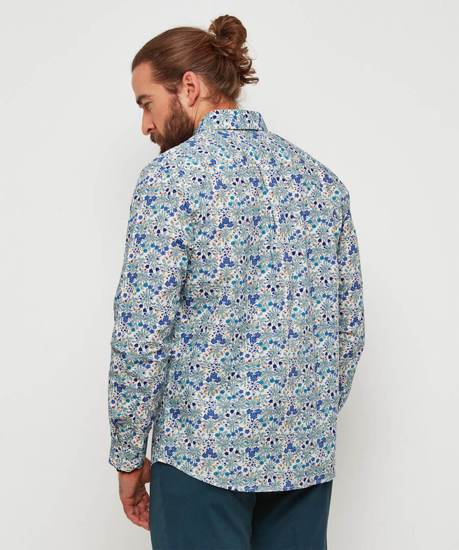 Delightfully Ditsy Shirt Model Back