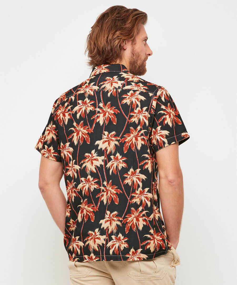 Retro Palms Shirt Model Back