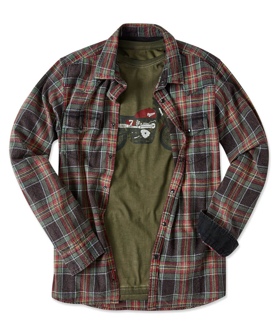 Western Check Shirt Model Front