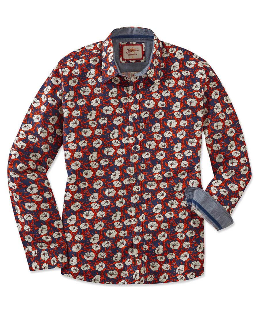 Funky Floral Shirt Model Front