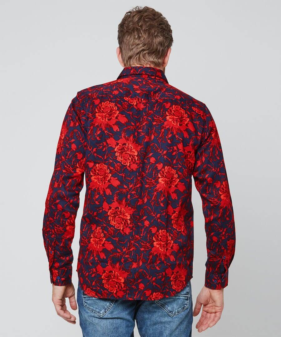 Exceptional Print Shirt Model Back