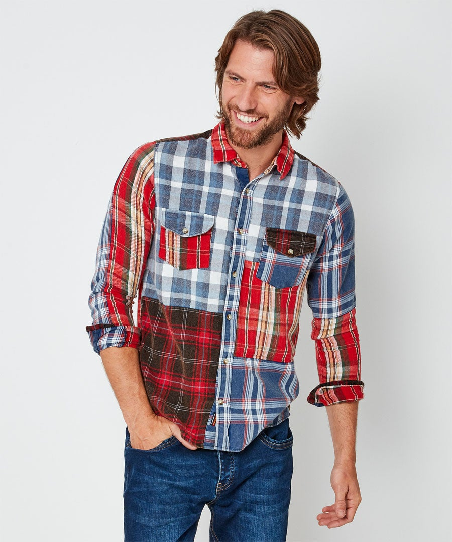 All About Checks Shirt Model Front